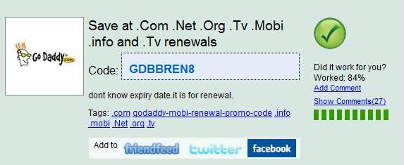 Photo of Godaddy .Mobi Renewal Promo Codes